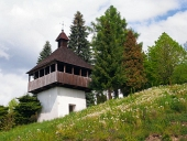 Zvonice v obci Istebné na Slovensku