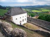 Výhled z hradu ve Staré Ľubovni, Slovensko