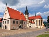 Bazilika a radnice ve městě Bardejov, Slovensko