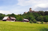 Zámek a lidové domy ve Staré Ľubovni