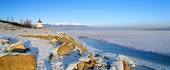 Vodní nádrž Liptovská Mara během zimy