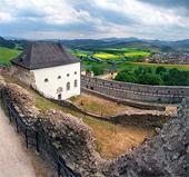 Zamračený výhled z hradu Stará Ľubovňa