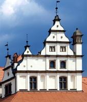 Středověká střecha na radnici v Levoči