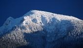 Zasněžený vrcholek Velkého Choče
