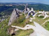 Pohled z hradu Čachtice