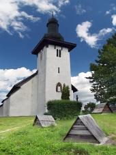 Kostel svatého Martina v Martinčeku na Slovensku
