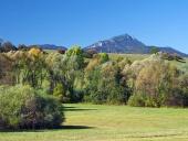 Louka a vrchol Velkého Choče na Slovensku