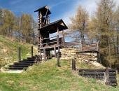 Dřevěné opevnění na kopci Havránok, Slovensko