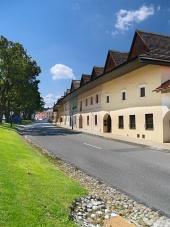 Cesta a měšťanské domy v obci Spišská Sobota