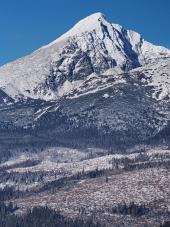 Kriváň během zimy ve Vysokých Tatrách