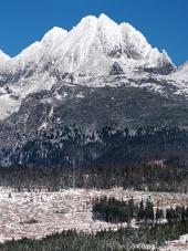 Vrcholy Vysokých Tater v zimě