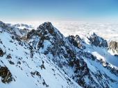Kolový štít ve Vysokých Tatrách během zimy