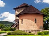 Masivní bašta hradu v Kremnici