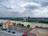 Bouřlivé počasí nad Bratislavou