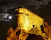 Oravský hrad během noci