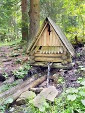 Dřevěný srub v přírodě