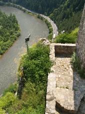 Výhled z hradu Strečno