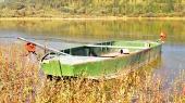 Loďka u přehrady