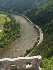 Pohled z hradu Strečno