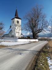 Zimní cesta do kostela v Ludrové