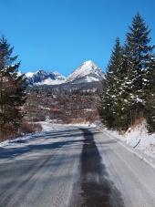 Cesta do Vysokých Tater v zimě