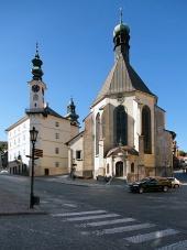 Radnice a kostel v Banské Štiavnici