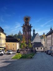 Ulice ve městě Banská Štiavnica