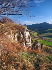 Podzimní výhled z tupé Skály na Oravě