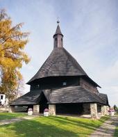 Dřevěný kostel ve městě Tvrdošín na Slovensku