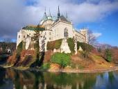 Proslulý Bojnický zámek během podzimu