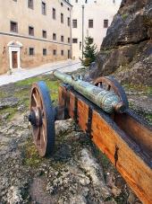 Historické dělo na Bojnickém zámku