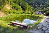 Starodávný báňský vodovod v obci Špania Dolina