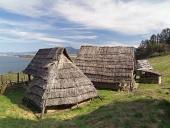 Keltské domy v Archeoskanzenu Havránok na Slovensku
