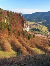 Výhled z tupé Skály na Slovensku