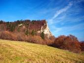 Podzim při lokalitě Ostré Skalky, Vyšný Kubín, Slovensko