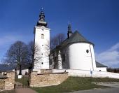 Kostel svatého Jiří v obci Bobrovec na Slovensku
