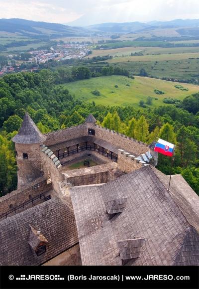 Výhled z hradu Stará Ľubovňa, Slovensko
