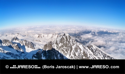 Panoramatický výhled na Vysoké Tatry, Slovensko