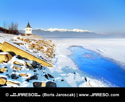 Liptovská Mara na Slovensku v zimě