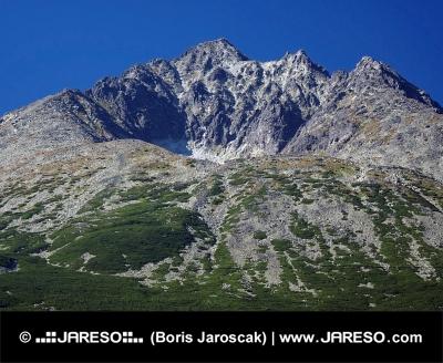 Gerlachovský štít ve Vysokých Tatrách v létě