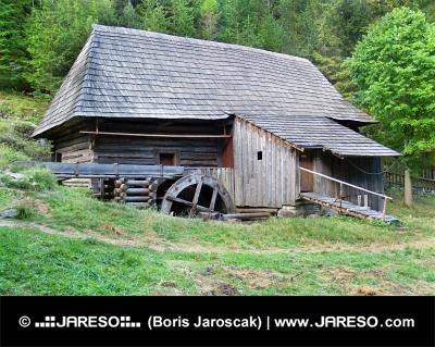 Dřevěná vodní pila v oblasti Oblazy