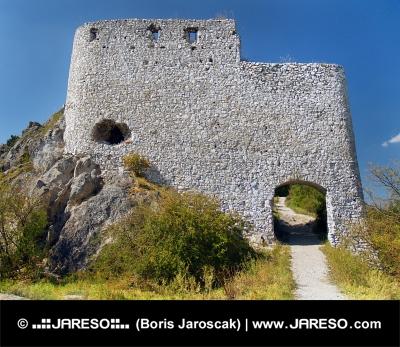 Opevnění vstupní brány Čachtického hradu