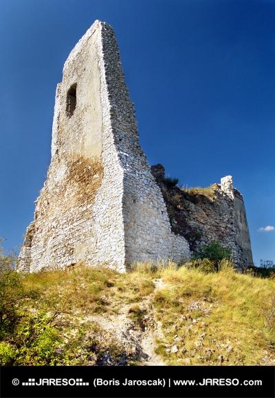Čachtický hrad - zřícenina Donjon