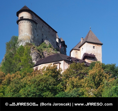 Oravský hrad na vysoké skále, Slovensko