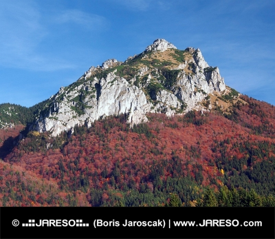 Barvitý vrchol pohoří Velký Rozsutec