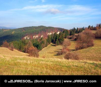 Podzimní pole na Tupá Skala na Slovensku