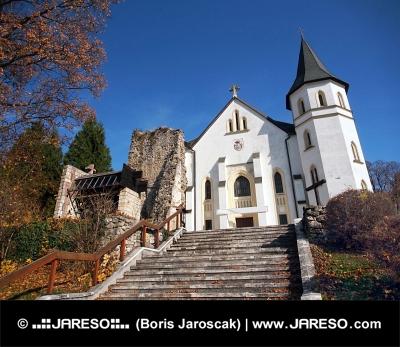 Římsko-katolický kostel v Mošovcích na Slovensku