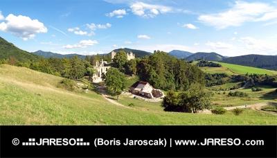 Hrad Sklabiňa v Turčianském kraji na Slovensku
