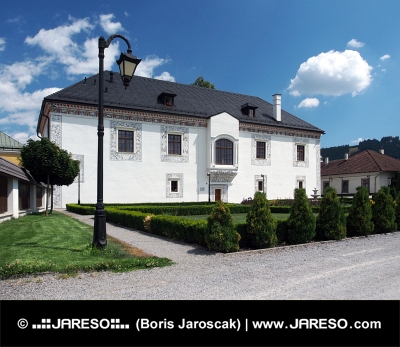 Vzácný svatební palác ve městě Bytča na Slovensku