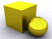 3d objekty, kostka a koule)